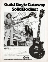 Guild M-75 - Guild single cutaway solid bodies