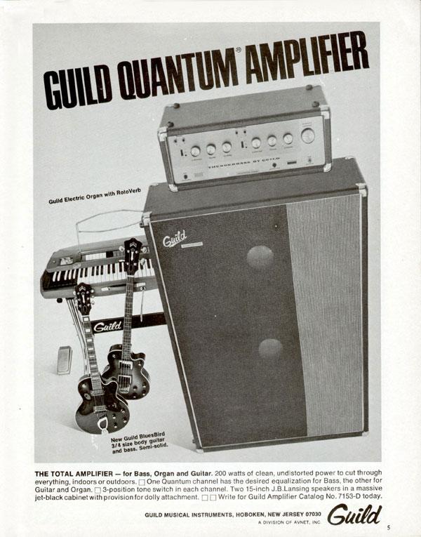 Guild advertisement (1969) Guild Quantum Amplifier