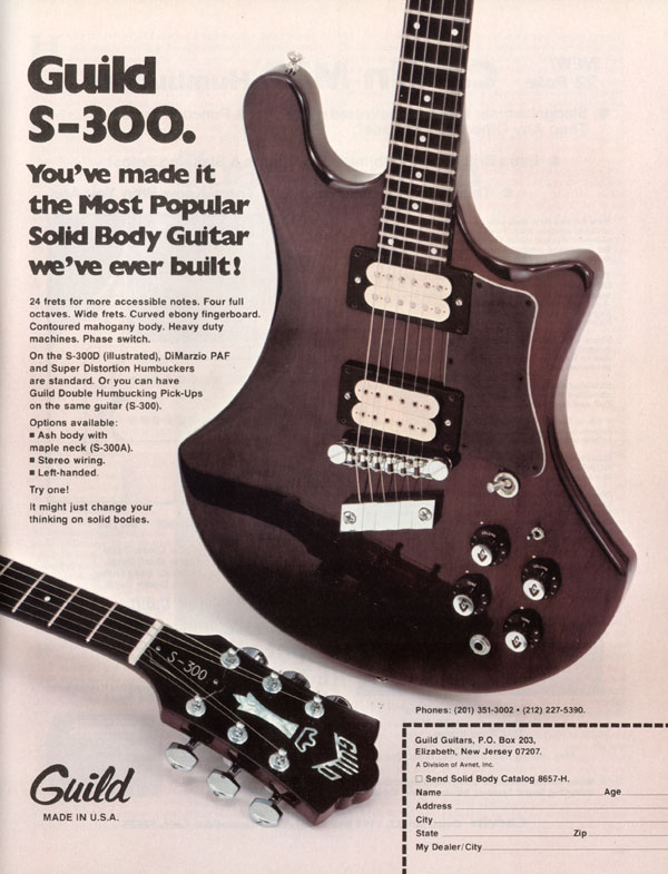 Guild advertisement (1978) Youve made it the most popular solid body guitar weve ever built