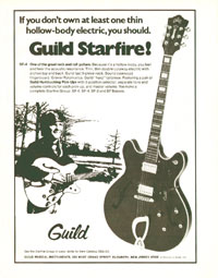 Guild Starfire - If you dont own at least one thin hollow-body electric, you should