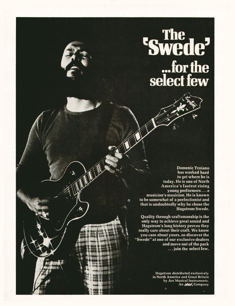 Hagstrom advertisement (1973) The Swede - for the select few