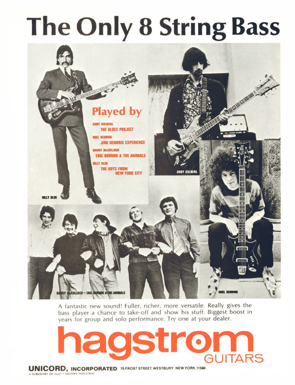 Hagstrom advertisement (1968) The Only Eight String Bass