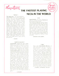 1972 Hagstrom guitar catalogue page 2