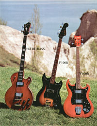 1972 Hagstrom guitar catalogue page 5
