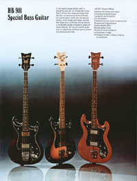 1975 Hagstrom guitar catalogue page 5