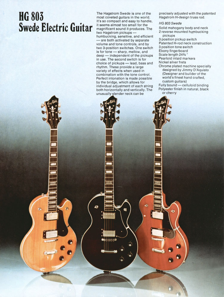 1975 Hagstrom guitar catalogue page 6 - Hagstrom Swede