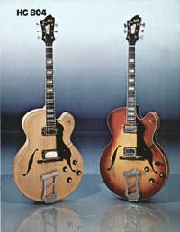 1975 Hagstrom guitar catalogue page 9