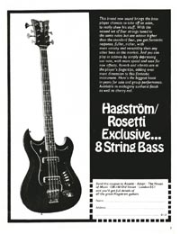 Hagstrom F-800 eight string - Hagstrom/Rosetti exclusive 8-string bass