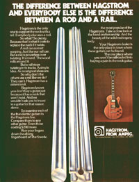 Hagstrom Swede - The difference between a rod and a rail