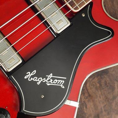 Hagstrom Concord bass - pickguard detail