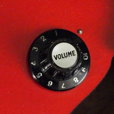 Hagstrom Concord control knob detail