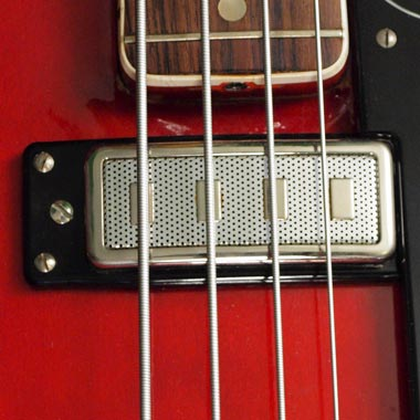 Hagstrom Concord bass - pickup detail