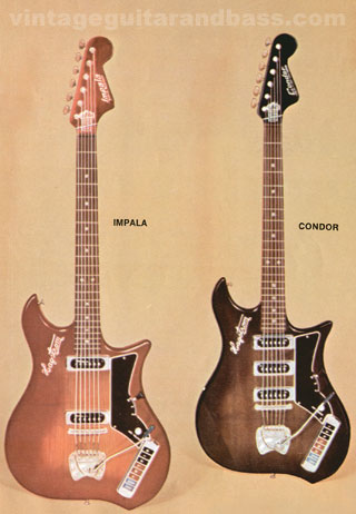 Hagstrom Condor and Imapala, taken from the 1966 Hagstrom Catalogue