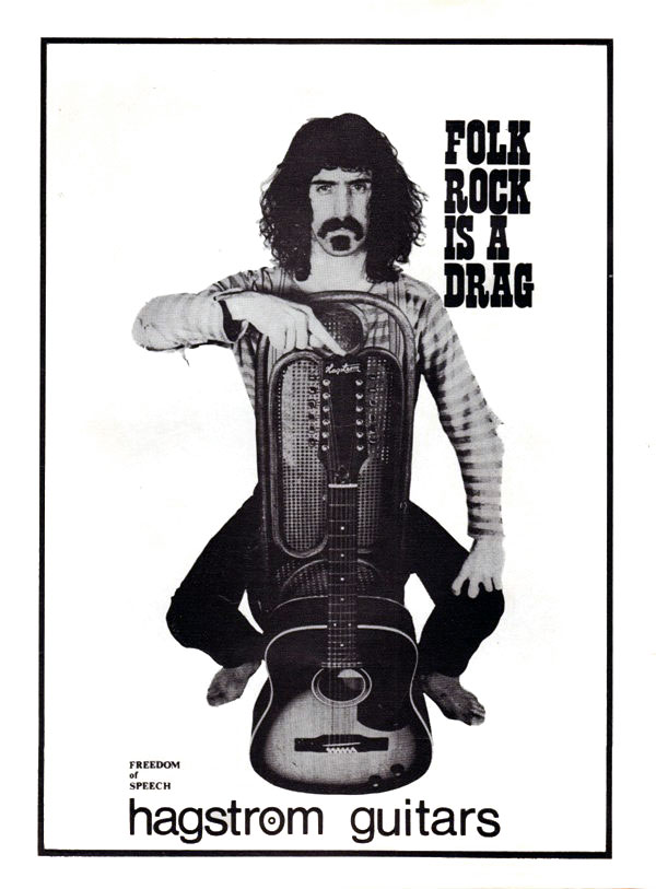 Hagstrom advertisement (1967) Folk Rock is a Drag