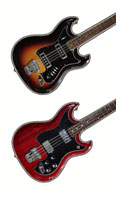 Hagstrom H8 and HIIBN bass guitars