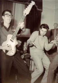 Hank Marvin with Guyatone/Antoria guitar