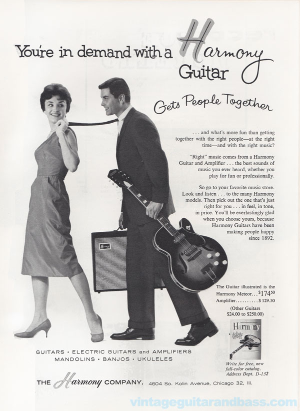 Harmony advertisement (1962) You