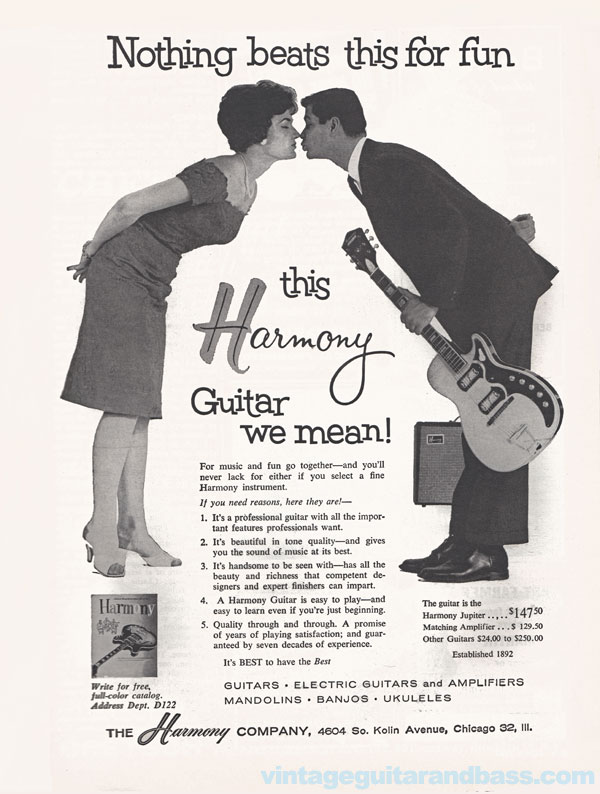 Harmony advertisement (1962) Nothing Beats this for Fun