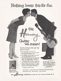 Harmony Stratotone Jupiter advertisement from 1962