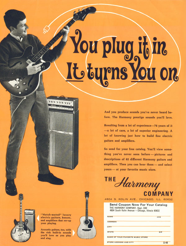 Harmony advertisement (1968) You plug it in, it turns you on