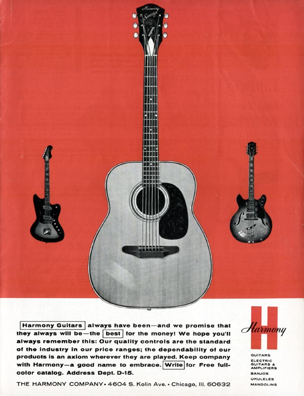 Harmony advertisement (1965) Harmony guitars