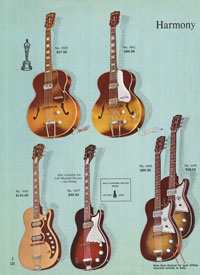 1965 Harmony guitar catalogue page 10