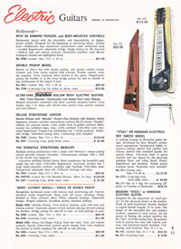 1965 Harmony guitar catalogue page 11