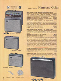 1965 Harmony guitar catalogue page 12