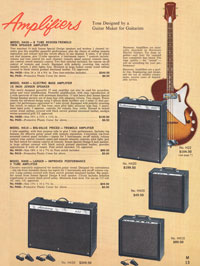 1965 Harmony guitar catalogue page 13