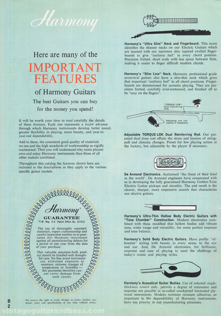 1965 Harmony Catalogue page 2