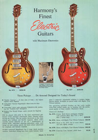 1965 Harmony guitar catalogue page 3