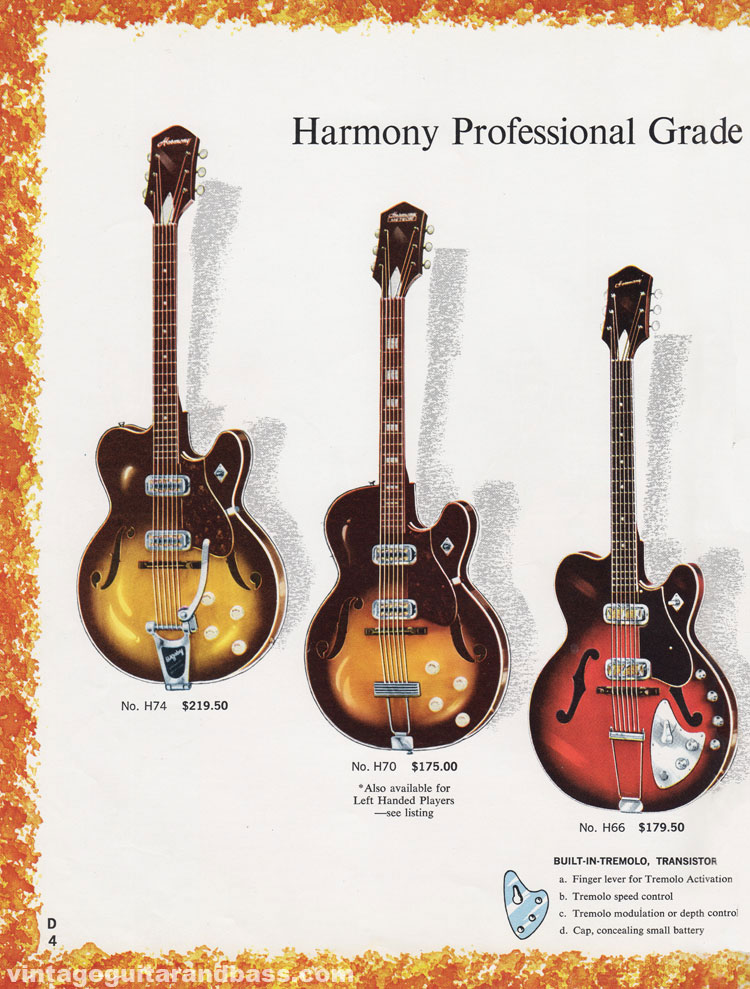 1965 Harmony Catalogue page 4 - Hofner Committee