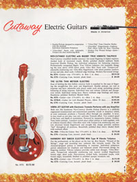 1965 Harmony guitar catalogue page 5