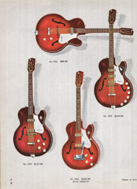1965 Harmony guitar catalogue page 6