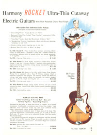 1965 Harmony guitar catalogue page 7