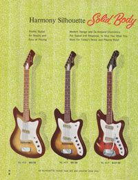 1965 Harmony guitar catalogue page 8