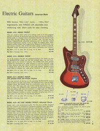 1965 Harmony guitar catalogue page 9