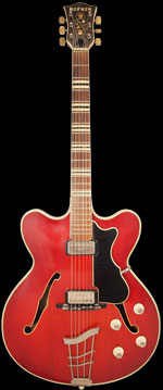 1962 Hofner Verithin thinline electric acoustic guitar