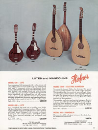 1967 Hofner catalogue page 11 - Hofner 4080/12