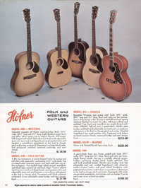 1967 Hofner catalogue page 12 - Hofner