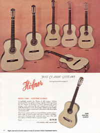 1967 Hofner catalogue page 14 - Hofner