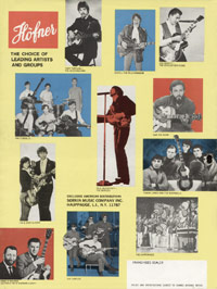 1967 Hofner catalogue page 16 - Hofner