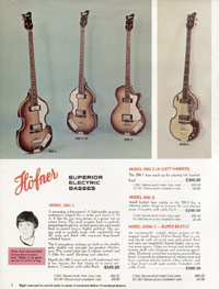 1967 Hofner catalogue page 2