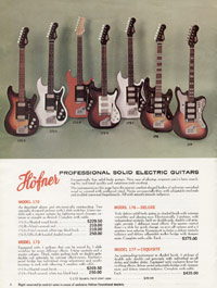 1967 Hofner catalogue page 4 - Hofner 430, 420, 450/12