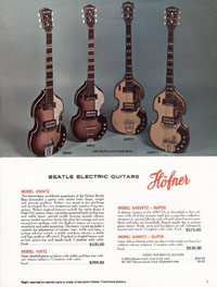 1967 Hofner catalogue page 5 - Hofner 480, 481