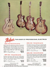 1967 Hofner catalogue page 6 - Hofner 620 620/12