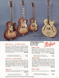 1967 Hofner catalogue page 9 - Hofner 360/12, 360/12WB, 370/12, 370/12WB