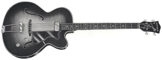 1965 Hofner Senator bass, from the 1965/66 Selmer catalogue