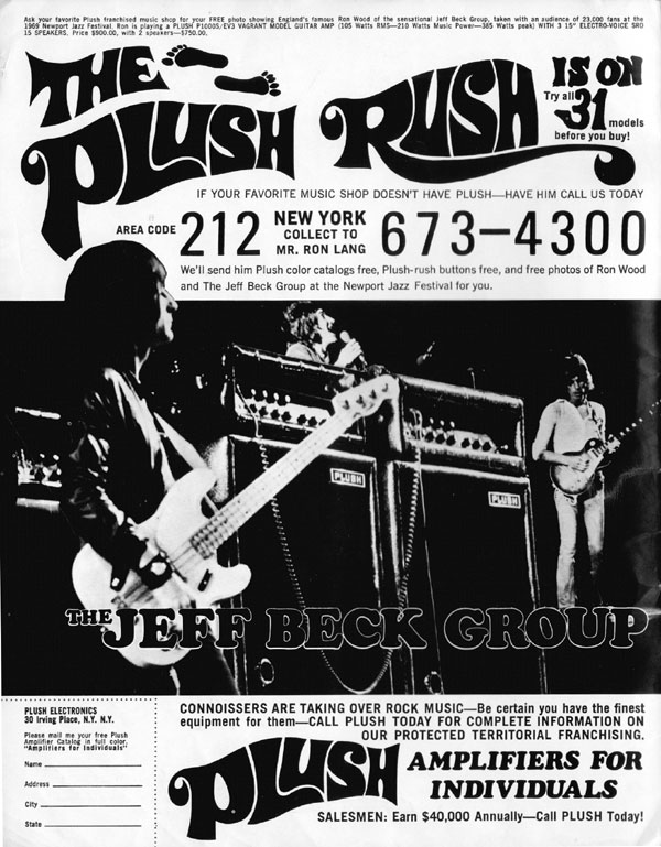 Plush advertisement (1969) The Plush Rush Is On