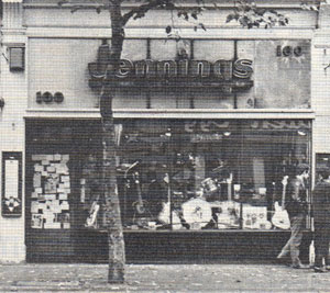 The Jenning guitar shop, 100 Charing Cross Road